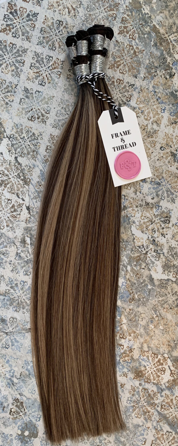 Brunette Rooted Balayage Hand-Tied Weft Hair Extensions