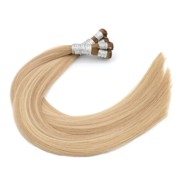 Blonde Rooted Balayage Hand-Tied Weft Hair Extensions