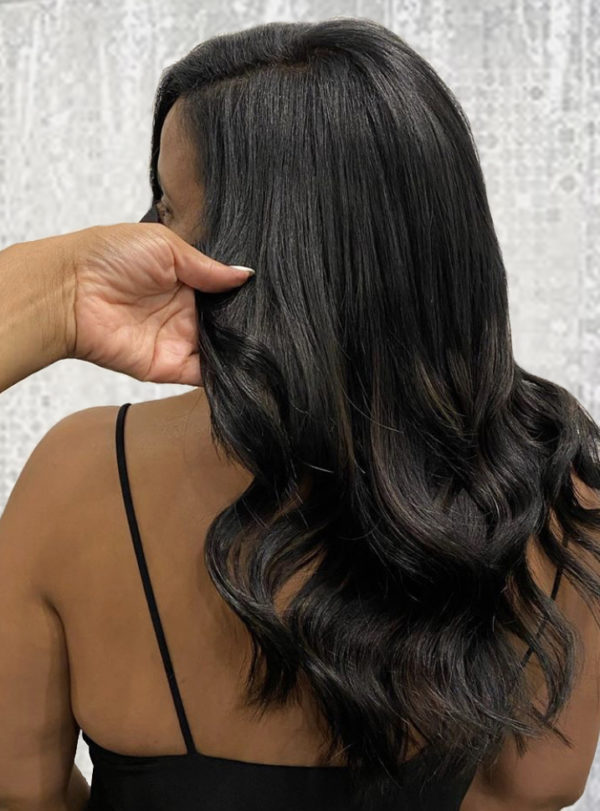 Black Hand-Tied Weft Hair Extensions