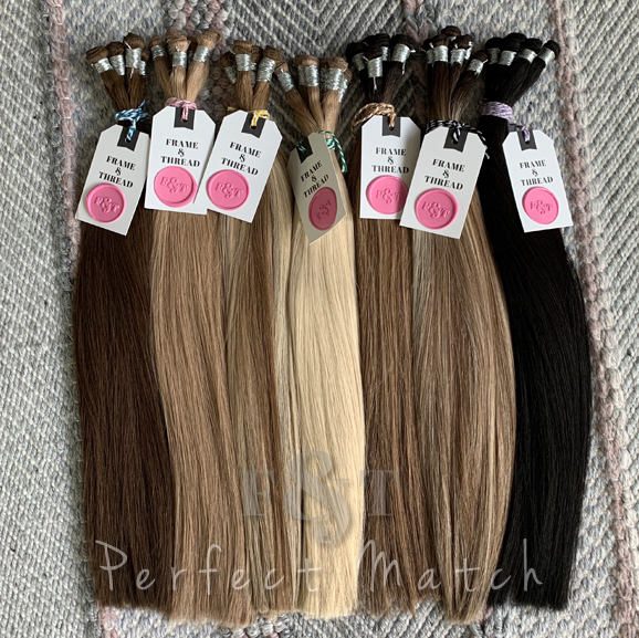 Hand-Tied Weft Hair Extensions Popular Colors