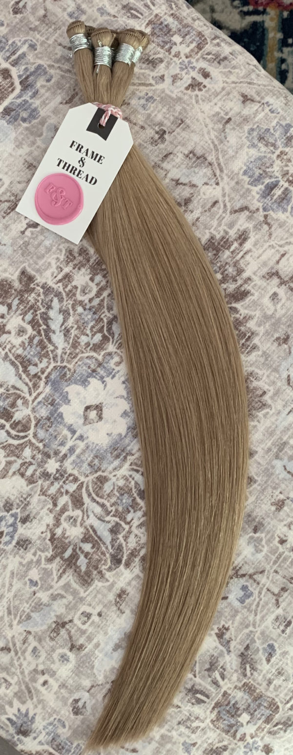 Blonde Hand-Tied Weft Hair Extensions