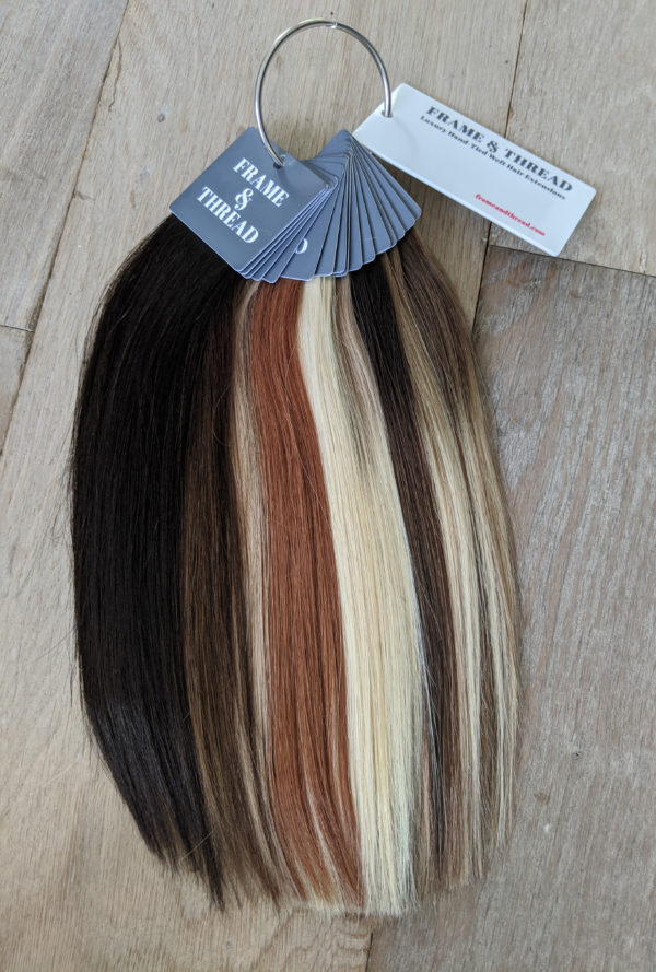 Hand Tied Weft Extensions Swatch Ring