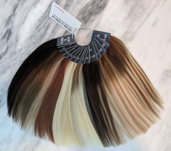 Hand Tied Weft Hair Extensions Swatch Ring