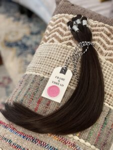Brunette Hand-Tied Weft Hair Extensions